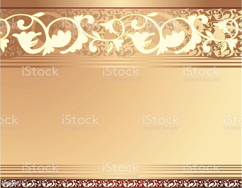 Gold Floral Border royalty-free stock vector art