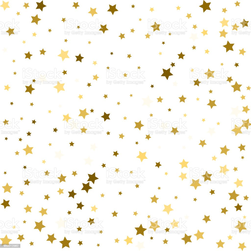 gold flying stars confetti magic christmas frame vector premium sparkles stardust border background holiday