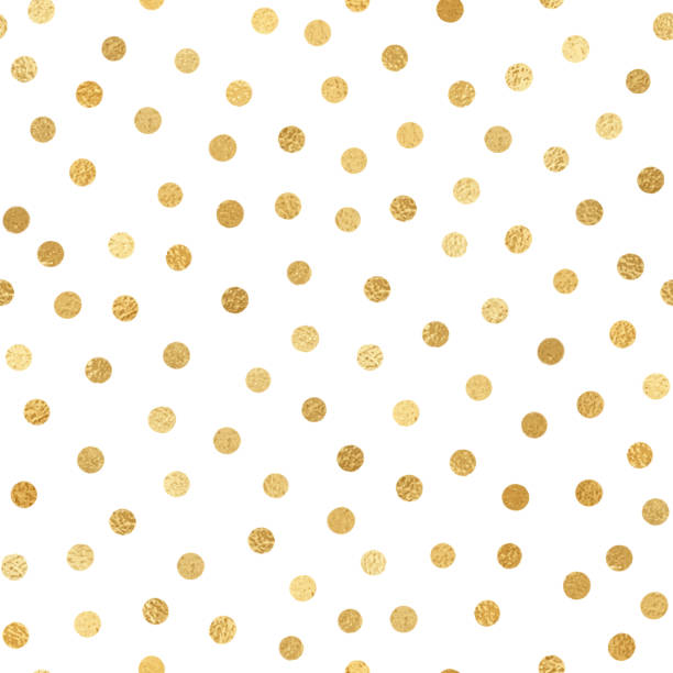 gold foil confetti seamless pattern background. geometric abstract vector pattern tile. repeating banner design metallic golden texture for cards, party invitation, packaging, surface design. - holiday season stock illustrations