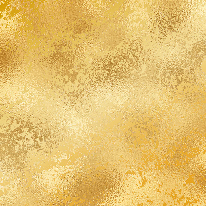 Gold foil grunge texture background. Abstract vector pattern. Metallic golden texture for cards, party invitation, packaging, surface design.