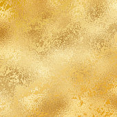 istock Gold foil grunge texture background. Abstract vector pattern. Metallic golden texture for cards, party invitation, packaging, surface design. 1214079496