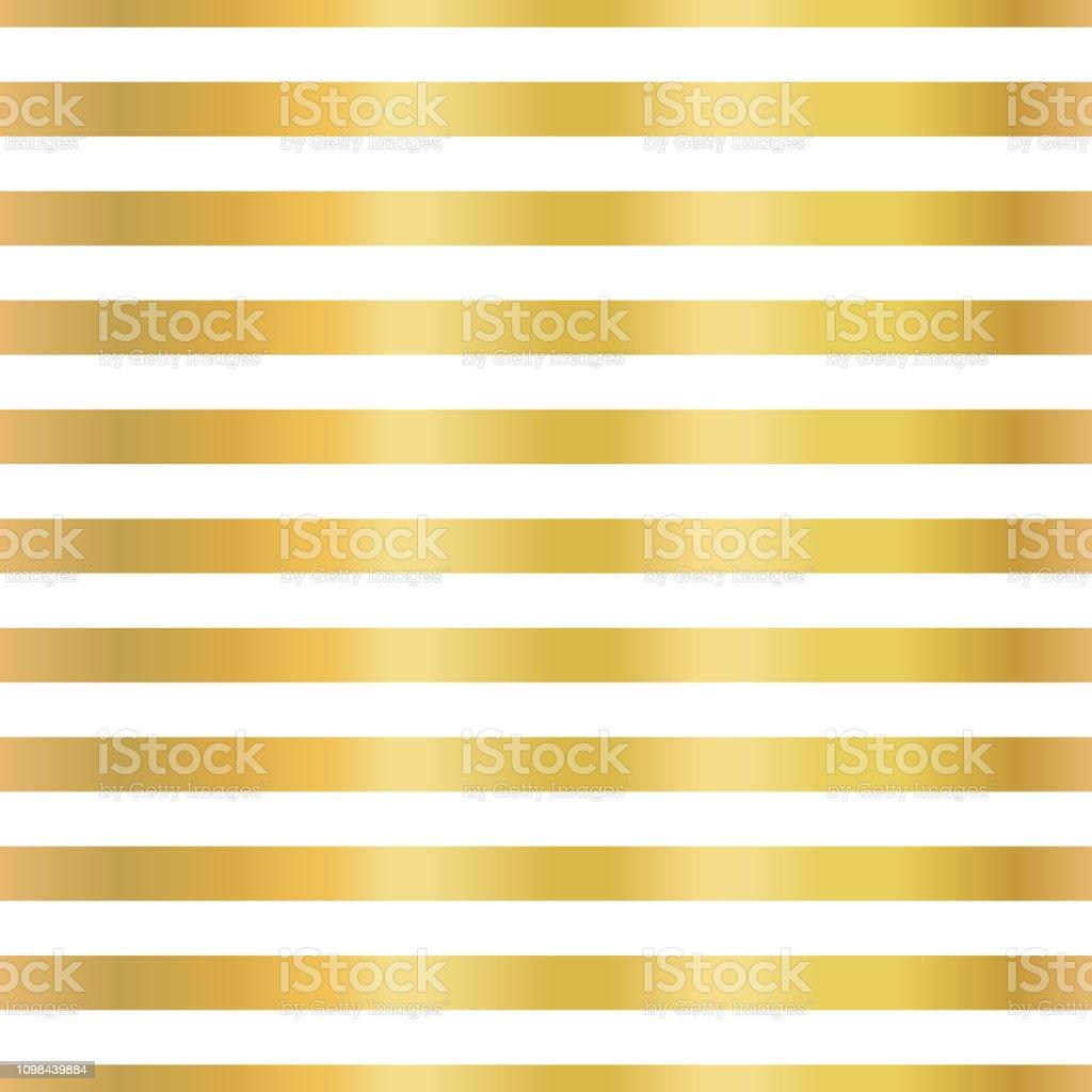 Gold foil stripes horizontal lines seamless vector vector art illustration