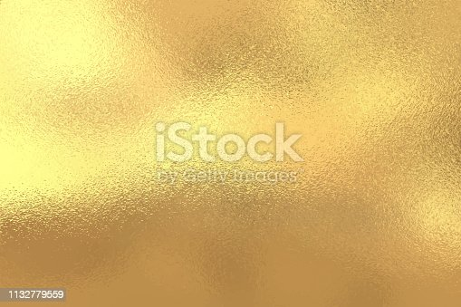 istock Gold foil texture background, Vector illustration 1132779559