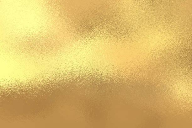 illustrazioni stock, clip art, cartoni animati e icone di tendenza di sfondo texture lamina oro, illustrazione vettoriale - sfondi