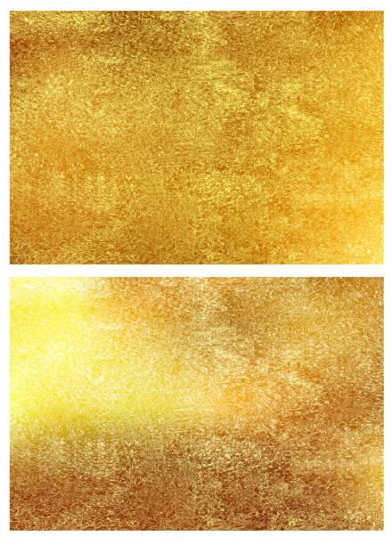 Gold foil texture backgrounds. Vector set. vector art illustration