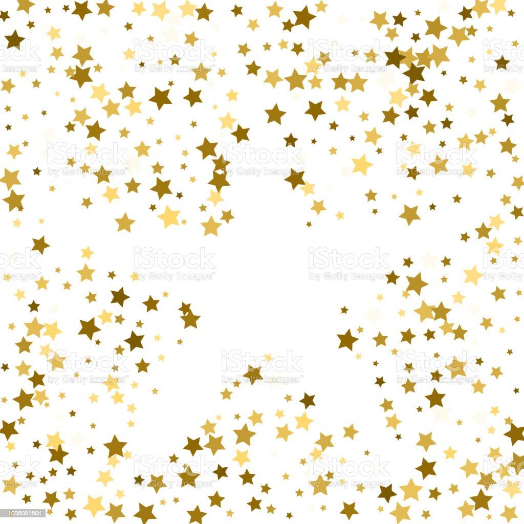 Ilustración De Marco De Oro O Frontera De Estrellas De