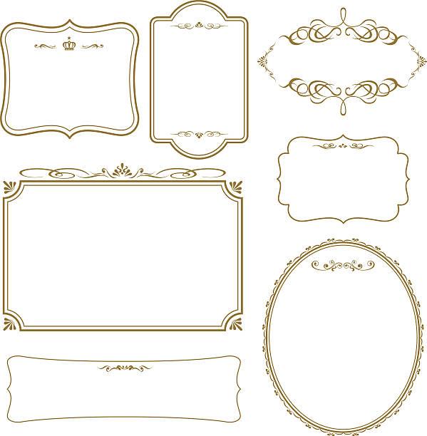 ベクトルゴールドフレームセット - 飾り点のイラスト素材/クリップアート素材/マンガ素材/アイコン素材