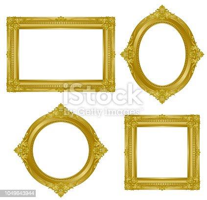istock gold frame. 1049643944