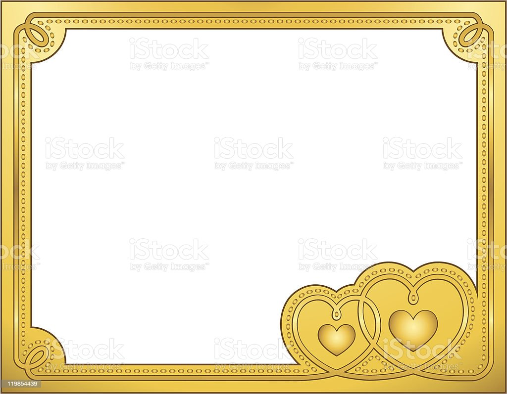 Gold frame royalty-free gold frame stock vector art & more images of backgrounds