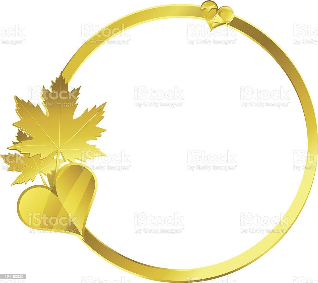 Gold frame royalty-free stock vector art