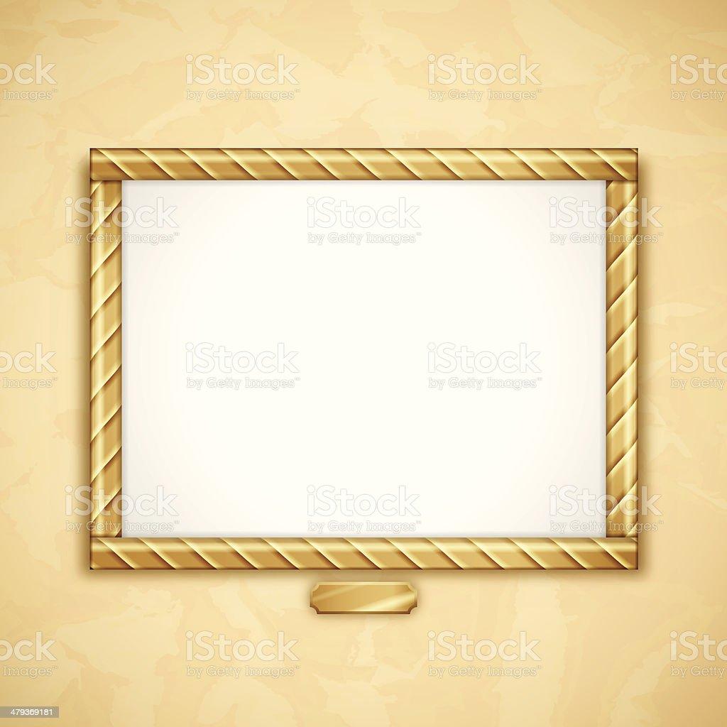 Gold Frame royalty-free gold frame stock vector art & more images of art