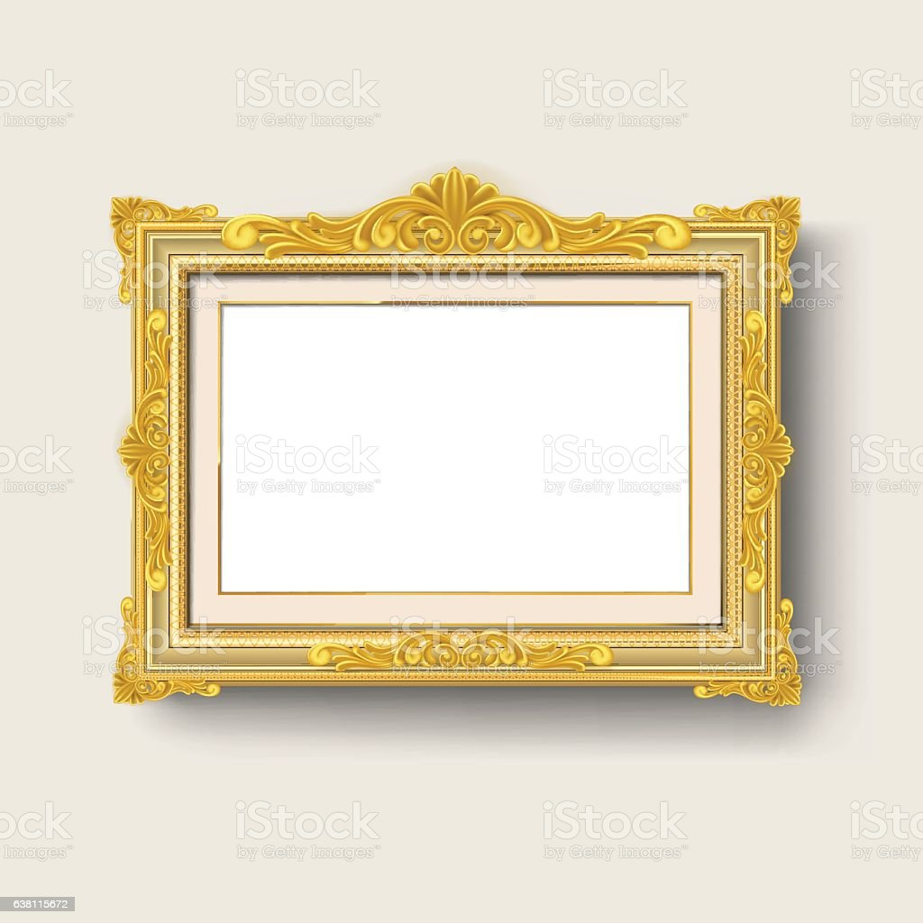 Gold Frame Stock Vector Art & More Images of Antique 638115672 | iStock