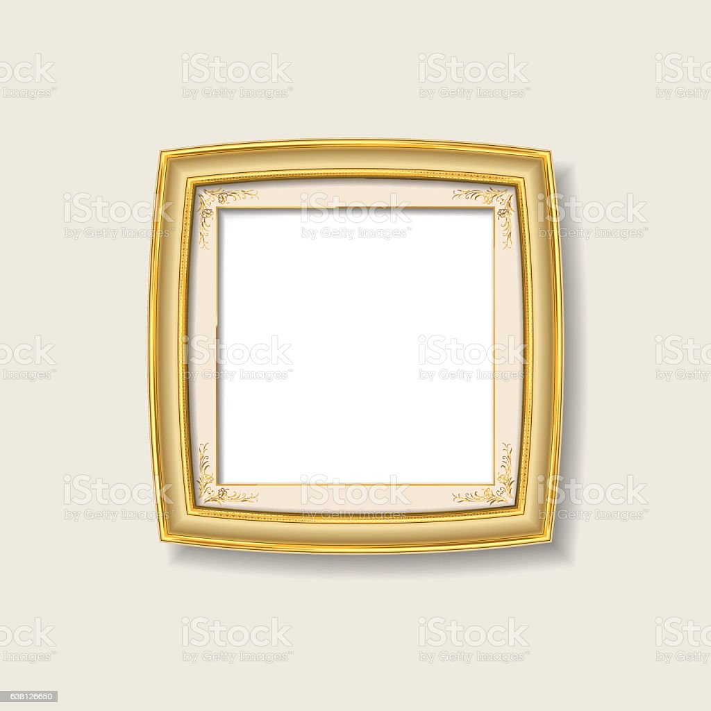 Gold Frame Stock Vector Art & More Images of Antique 638126650 | iStock