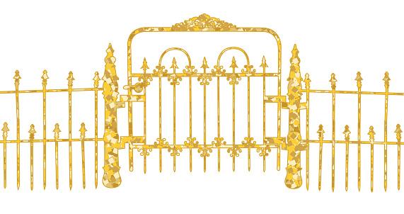 Gold Garden Gate