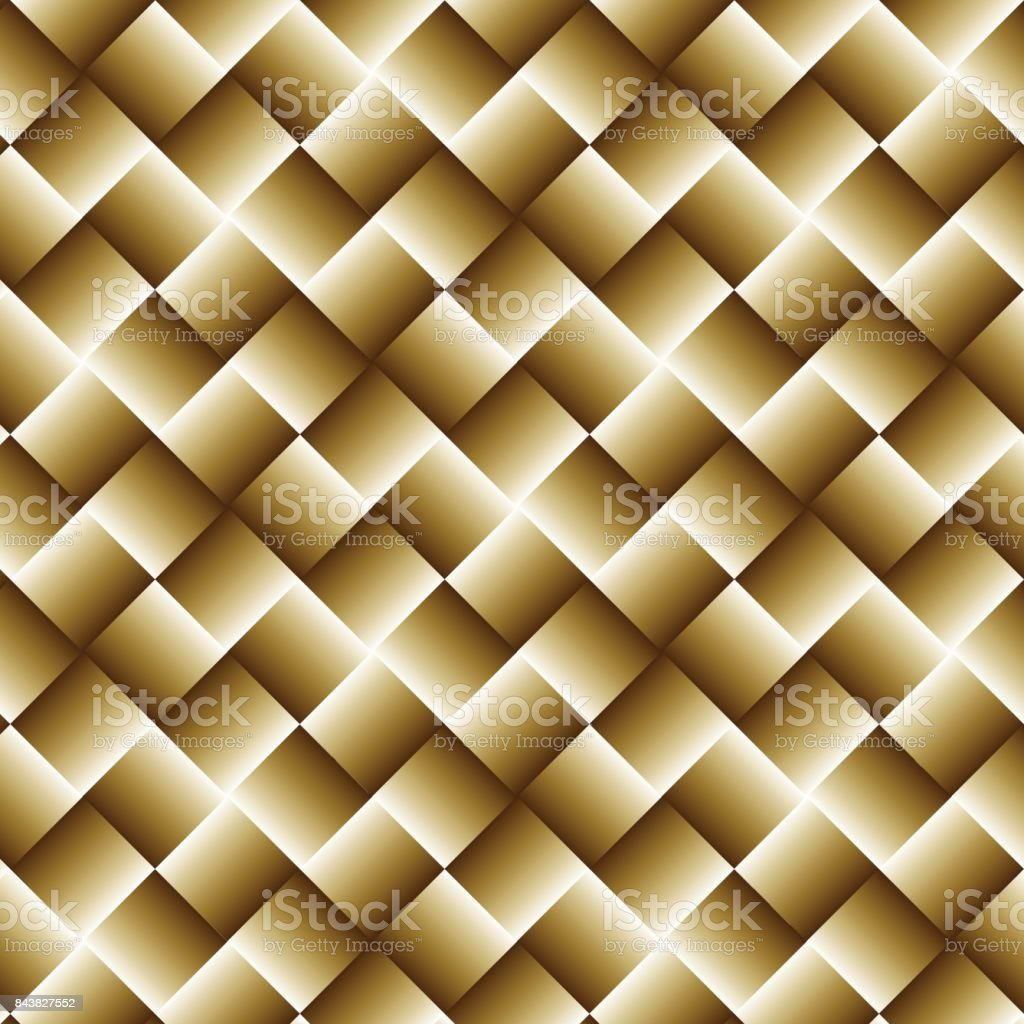 Gold Geometric Background With Squares Abstract Wallpaper