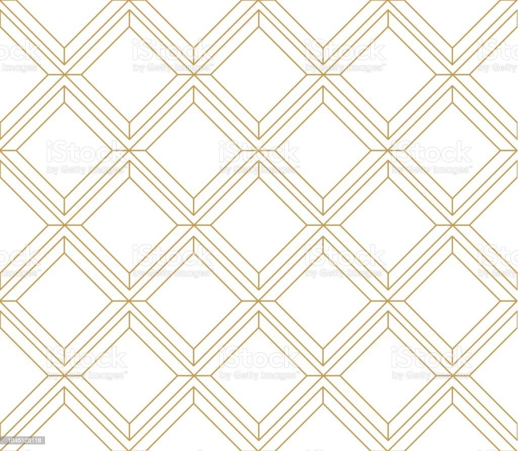 Gold Geometrische Muster Vektor Linie Boden Dekoration Hintergrund