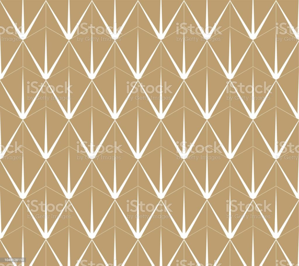 Gold Geometric Pattern Vector Retro Wallpaper Design Background Royalty Free