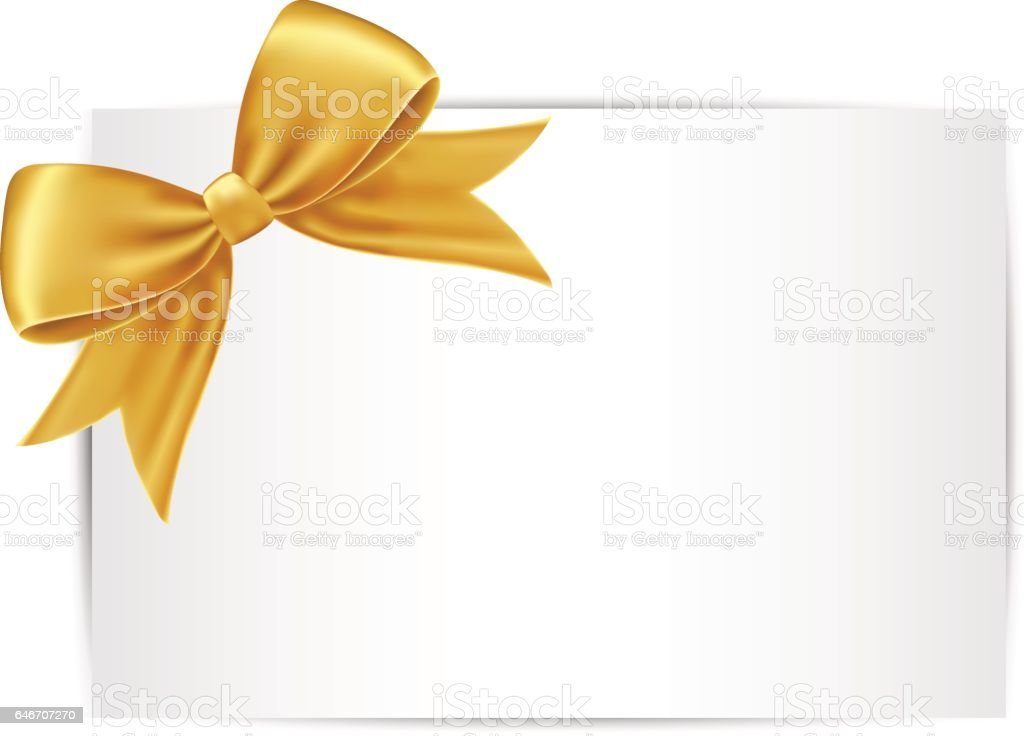 gold gift bow and ribbon stock vector art more images of art