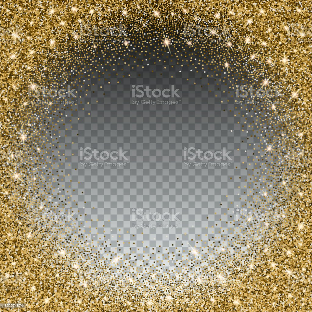 Gold Glitter And Bright Sand Transparent Background Royalty Free