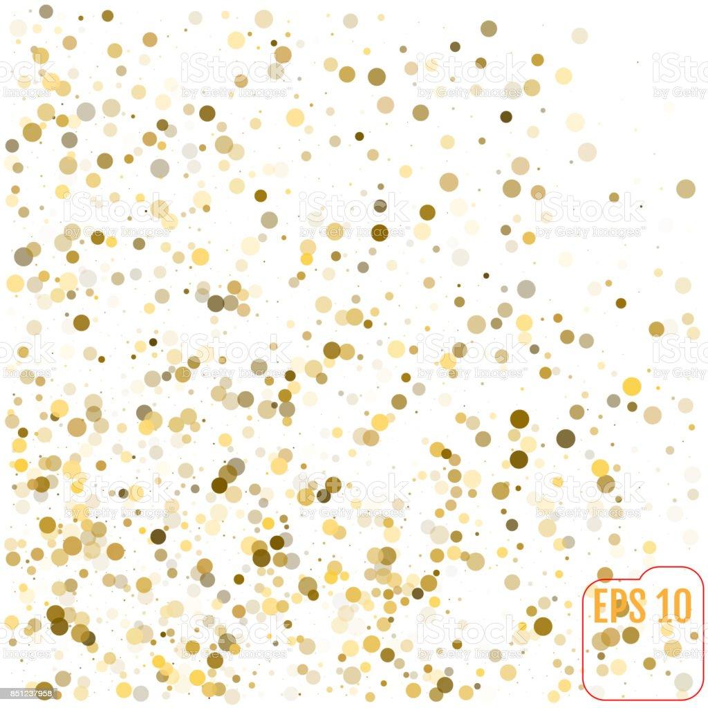 ゴールドのキラキラ背景水玉ベクトル イラスト お祝いのベクターアート
