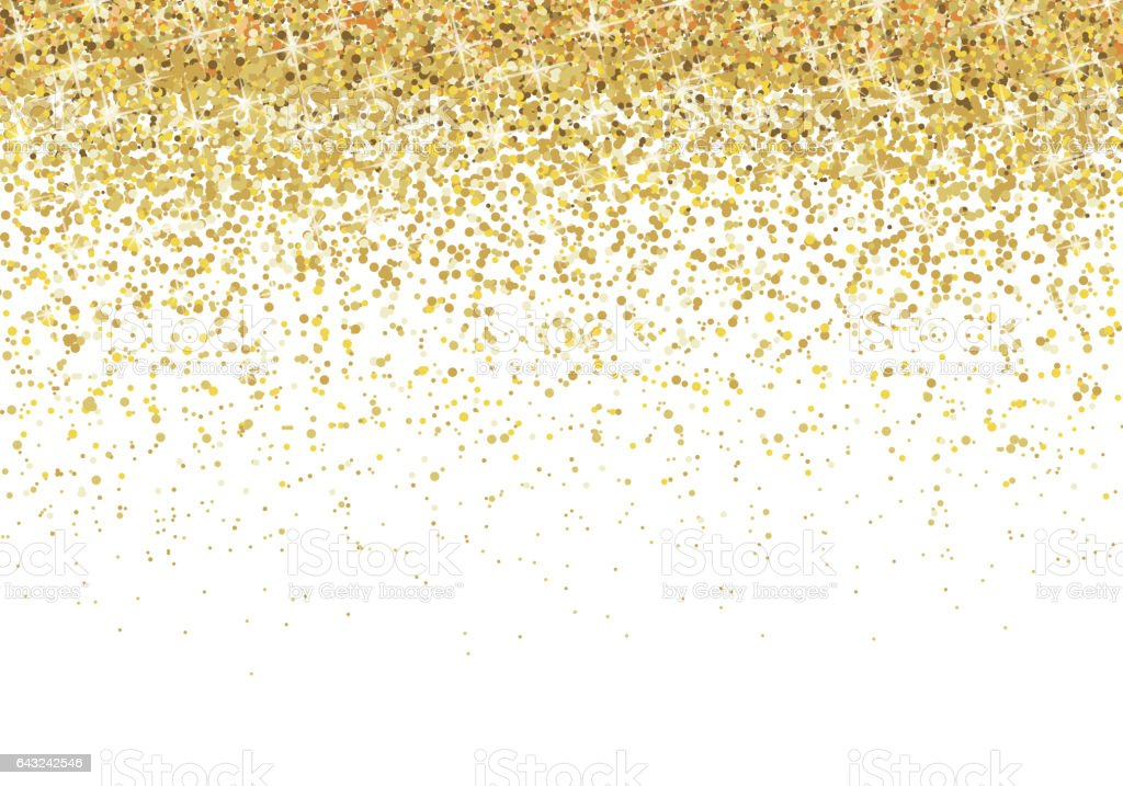 Gold glitter background vector art illustration