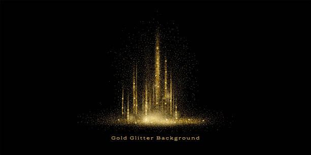ゴールドのグリッター背景 - 金点のイラスト素材/クリップアート素材/マンガ素材/アイコン素材