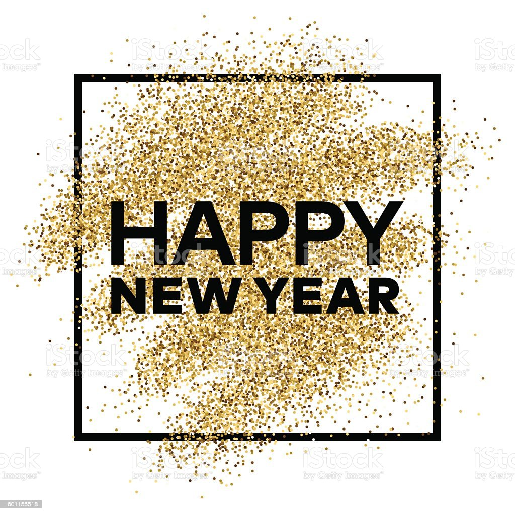 gold glitter background with happy new year inscription royalty free gold glitter background with happy
