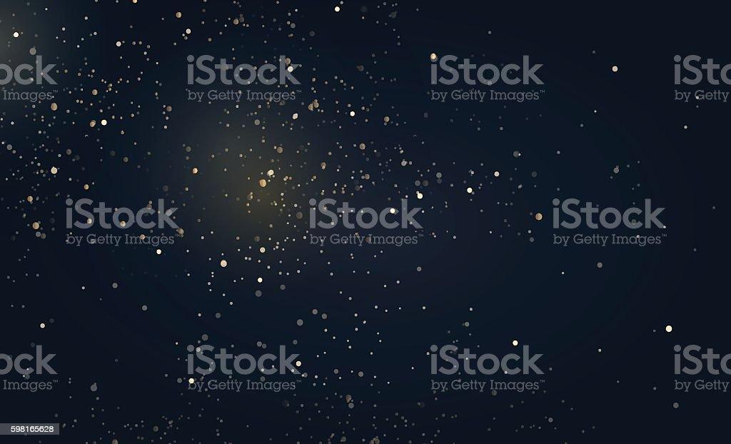 Gold glitter dust texture. - Illustration vectorielle