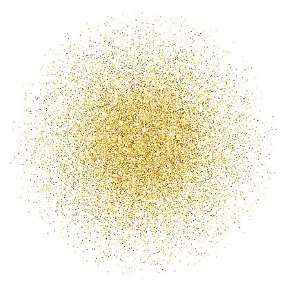Gold glitter gradient stack