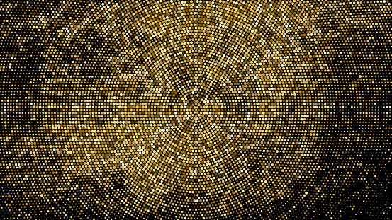Gold Glitter Halftone Dotted Backdrop.
