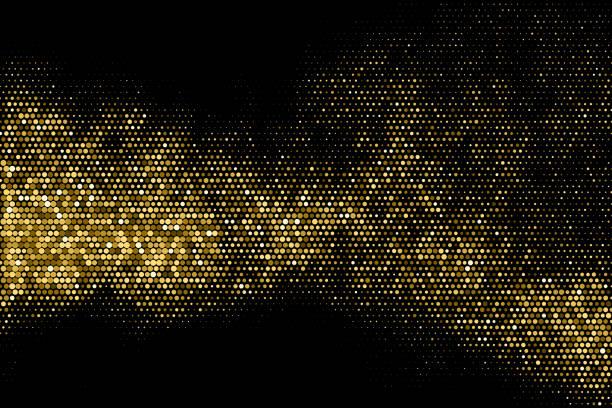 stockillustraties, clipart, cartoons en iconen met goud glitter raster gestippelde achtergrond. - clubben