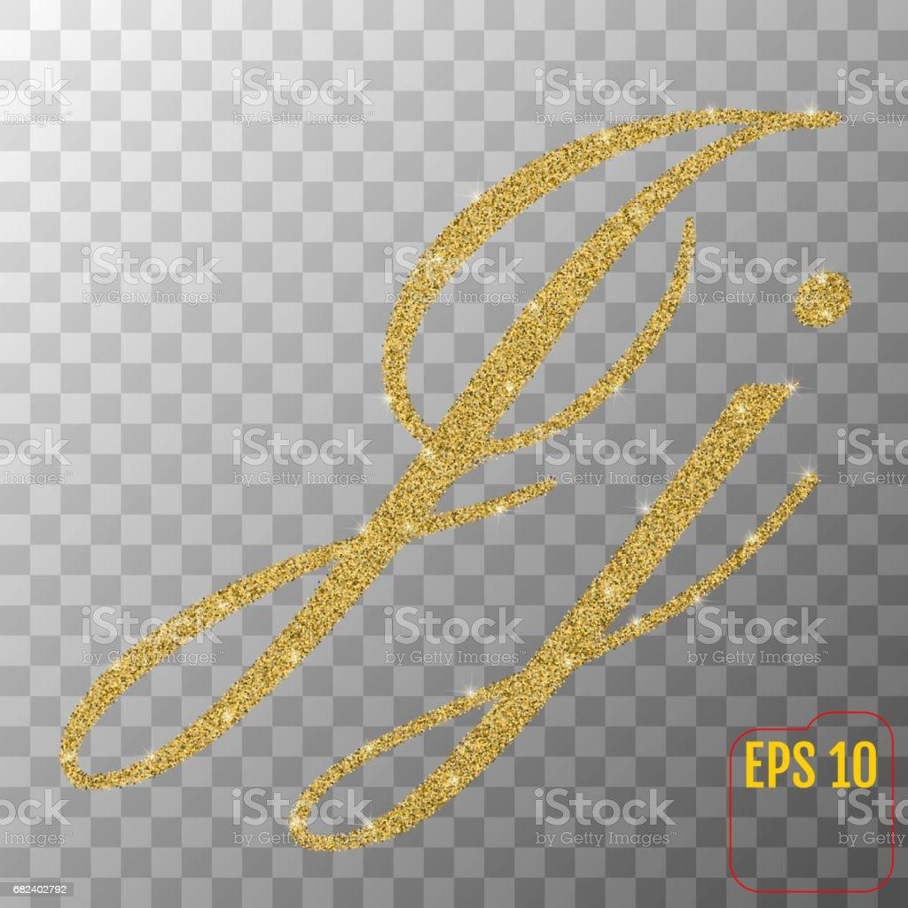 Gold glitter powder letter J in hand painted style on transparent background. Golden font type letter J, uppercase. Vector illustration. royalty-free gold glitter powder letter j in hand painted style on transparent background golden font type letter j uppercase vector illustration stock vector art & more images of abundance