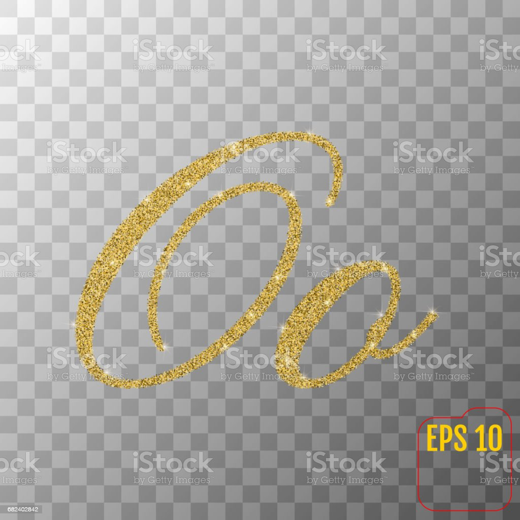 Gold glitter powder letter O in hand painted style on transparent background. Golden font type letter O, uppercase. Vector illustration. royalty-free gold glitter powder letter o in hand painted style on transparent background golden font type letter o uppercase vector illustration stock vector art & more images of abundance