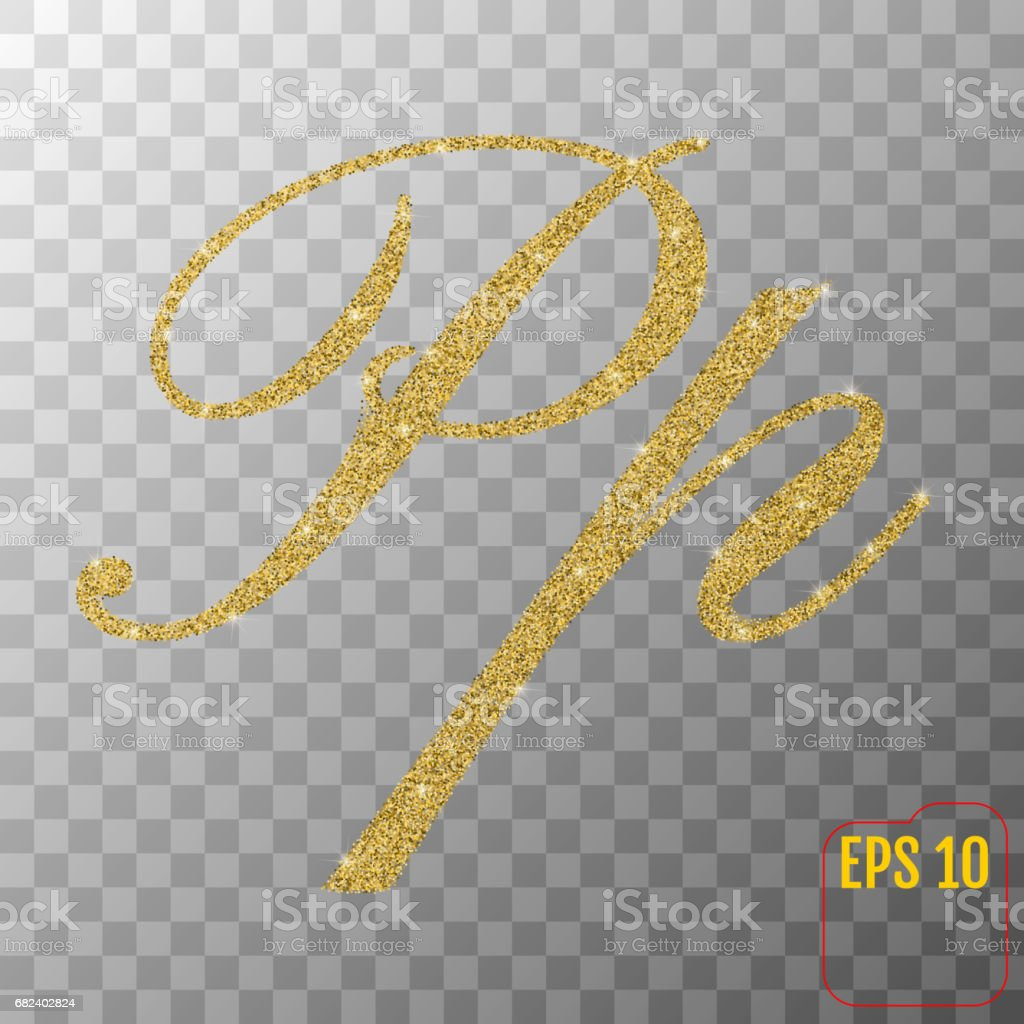 Gold glitter powder letter P in hand painted style on transparent background. Golden font type letter P, uppercase. Vector illustration. royalty-free gold glitter powder letter p in hand painted style on transparent background golden font type letter p uppercase vector illustration stock vector art & more images of abundance