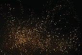 Gold glitter powder splash vector background