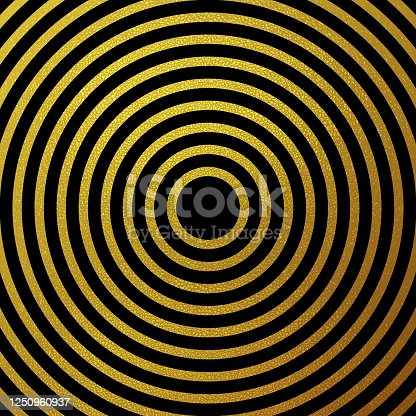 istock Gold glitter rings vector background 1250960937