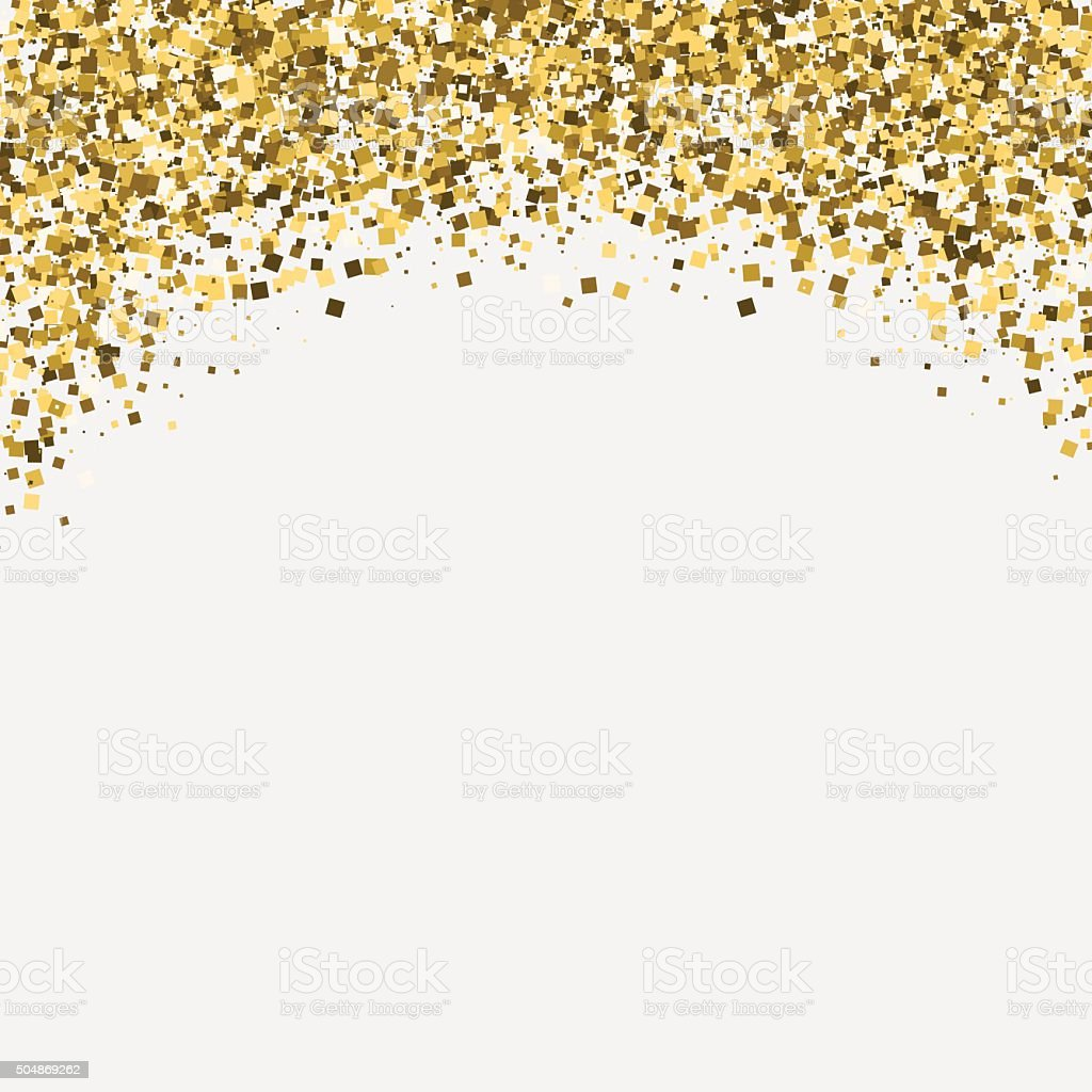 Gold Glitter Shimmery Heading Invitation Card Or Flyer
