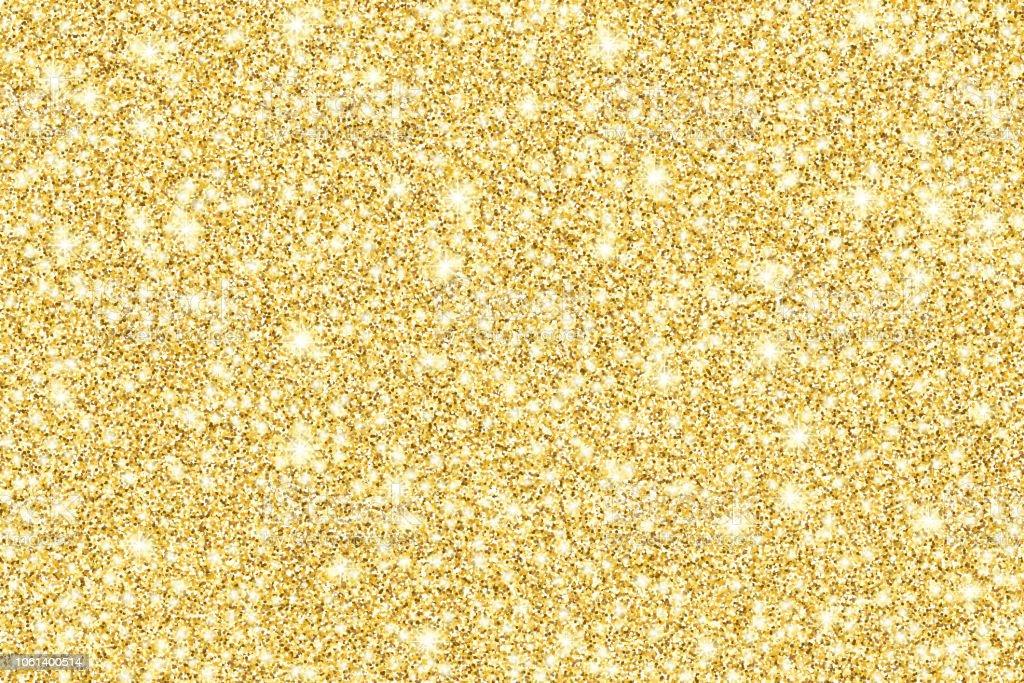 Sfondo vettoriale lucido glitter oro - arte vettoriale royalty-free di A forma di stella