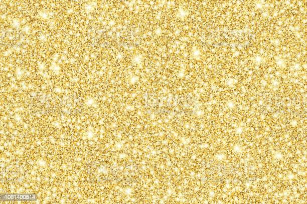 Sfondo Vettoriale Lucido Glitter Oro - Immagini vettoriali stock e altre immagini di A forma di stella