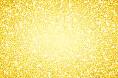 Gold glitter background. The eps file is organised into layers for background, glitter, and lights.