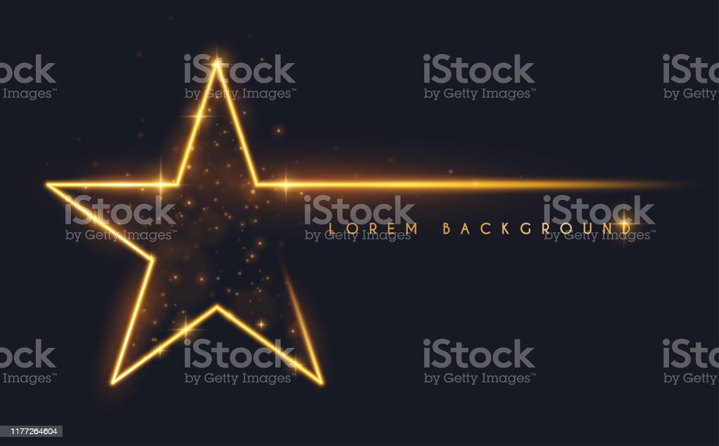 Gold glitter star shape background - Grafika wektorowa royalty-free (Abstrakcja)
