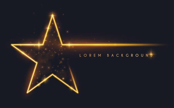ilustrações de stock, clip art, desenhos animados e ícones de gold glitter star shape background - comemoração conceito