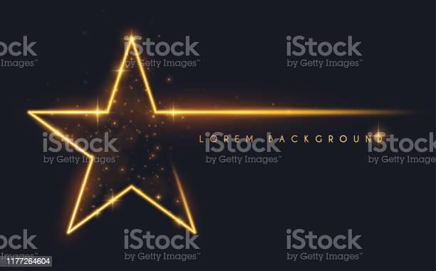 Vetores de Fundo Da Forma Da Estrela Do Glitter Do Ouro e mais imagens de Abstrato