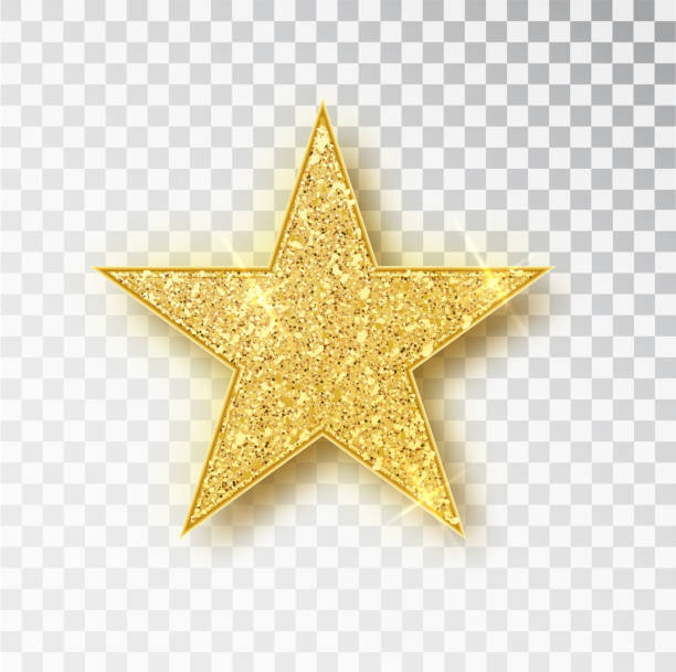 Gold glitter star vector isolated. Golden sparkle luxury design element isolated. Icon of star isolated. New Year s decor element. Ramadan design element Template Gold glitter star vector isolated. Golden sparkle luxury design element isolated. Icon of star isolated. New Year s decor element. Ramadan design element Template. stars stock illustrations