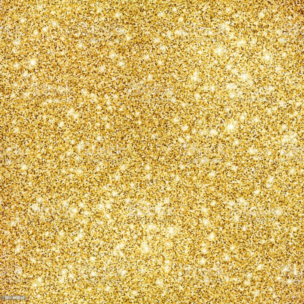 Gold glitter texture background - arte vettoriale royalty-free di Amore