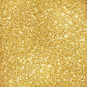 Thousands of gold colored vector circles illustrating a glitter texture background