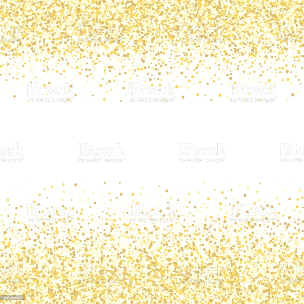 Gold Glitter Texture Golden Shiny Sparkles On White