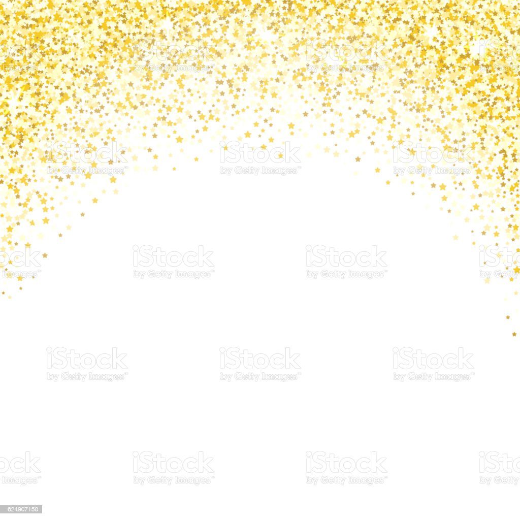 Confetti background vector golden confetti background - Gold Glitter Texture Golden Shiny Sparkles On White Background Royalty Free Stock Vector