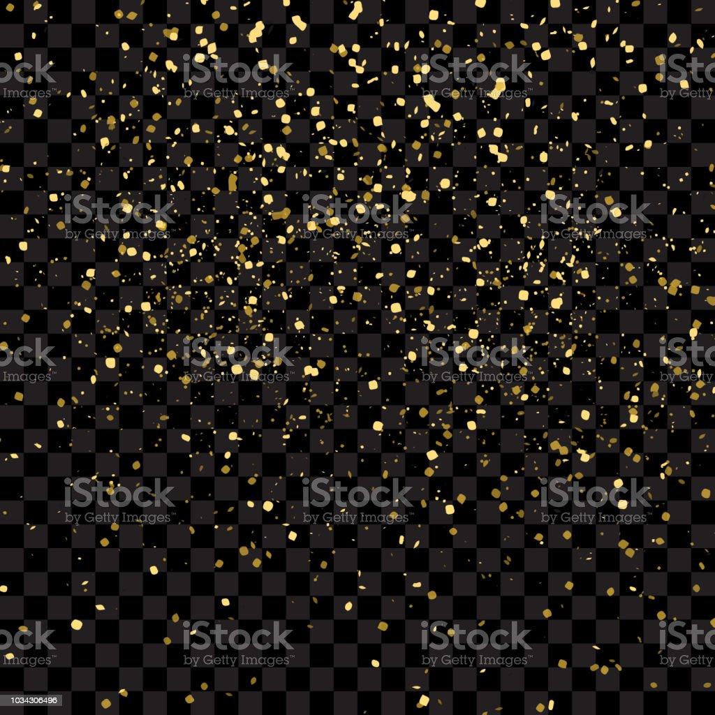 ゴールドラメ テクスチャ ベクトル図、黒透明な背景に分離します。宙を舞う紙吹雪粒子、爆発ゴールデン コンセプトを断片します。 ロイヤリティフリーゴールドラメ テクスチャ ベクトル図黒透明な背景に分離します宙を舞う紙吹雪粒子爆発ゴールデン コンセプトを断片します - 2019年のベクターアート素材や画像を多数ご用意
