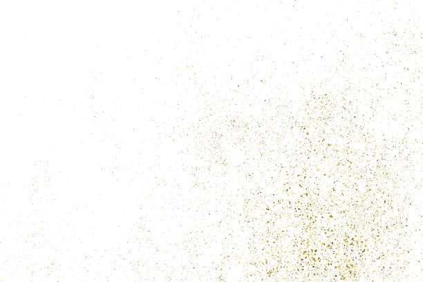Gold glitter texture isolated on white. Gold Glitter Texture Isolated On White. Amber Particles Color. Celebratory Background. Golden Explosion Of Confetti. Design Element. Digitally Generated Image. Vector Illustration, Eps 10. sergionicr stock illustrations